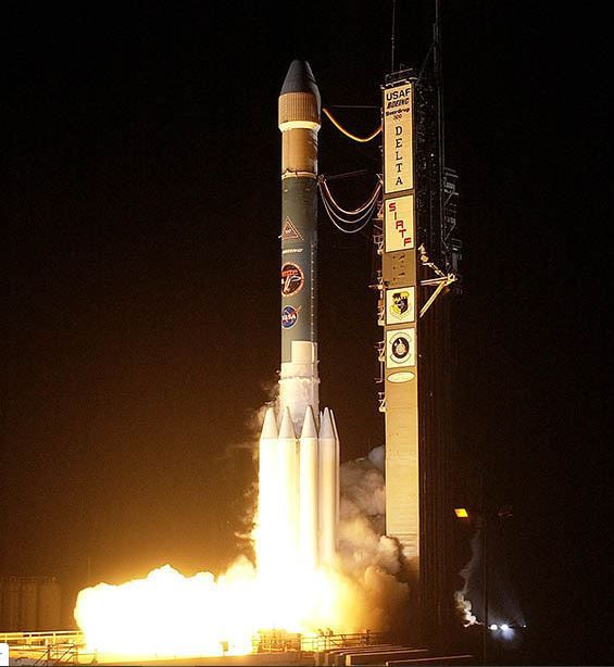 The Spitzer Space Telescope was launched on a Delta II rocket on August 25  2003 from Cape Canaveral...