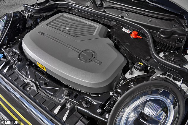 The Mini Electric is powered by a 184 horsepower (135kW) electric motor charged from a 32.6kWh high-voltage lithium ion battery
