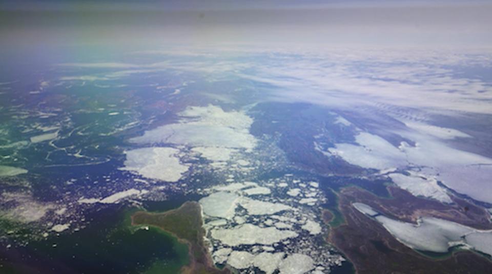 Broken Ice from One More Orbit Flight