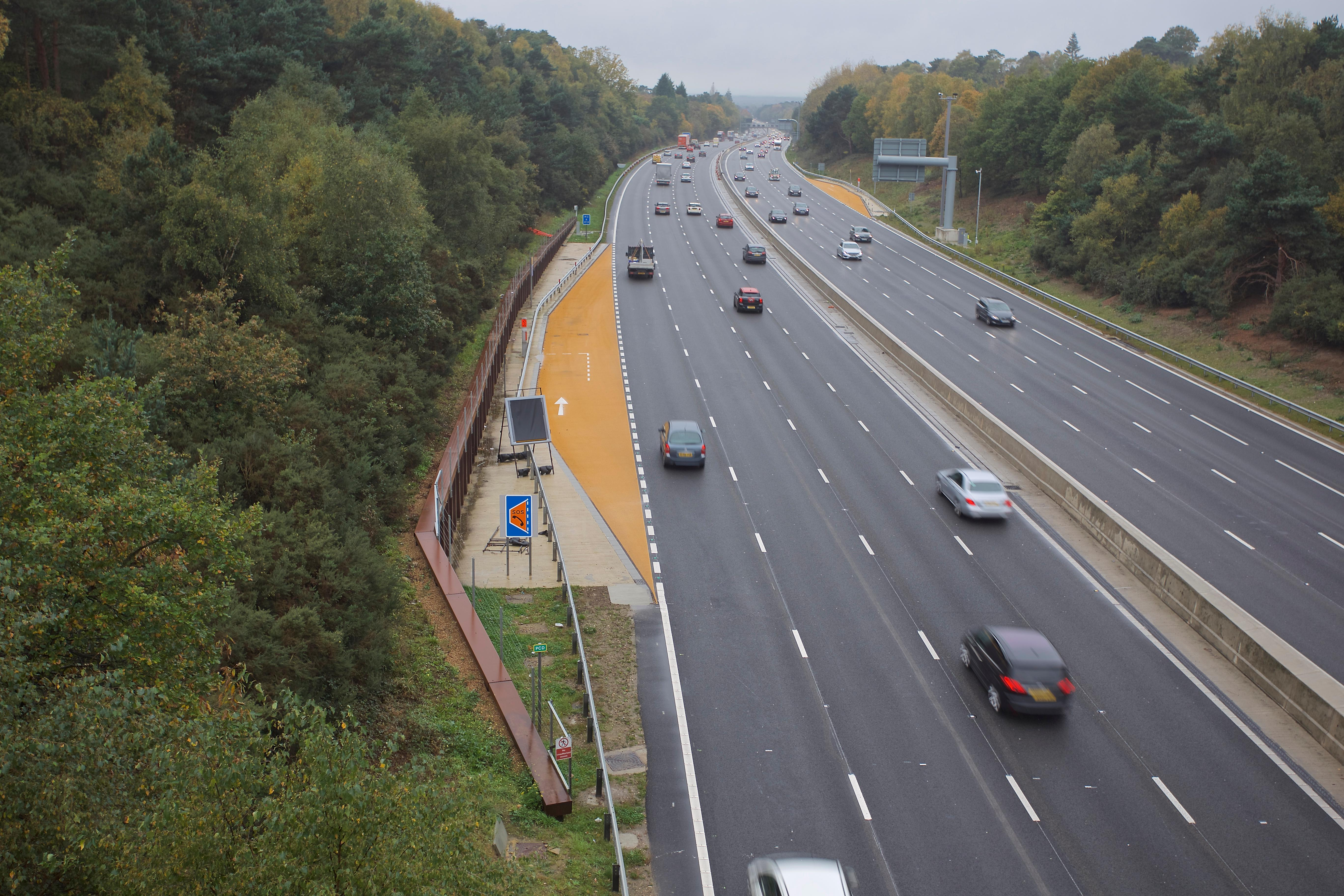 Smart motorways are where the hard shoulder is used as a regular lane
