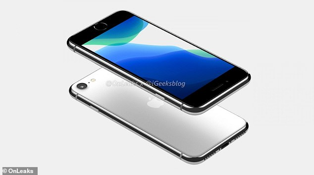 Apple will begin manufacturing a successor to the hugely popular budget iPhone SE in February, a report claims. The low-cost alternative to the Cupertino-based firm's pricey models is expected to revive its TouchID fingerprint sensor, which was abandoned after the iPhone 8. pictured, leaked renders of the SE 2