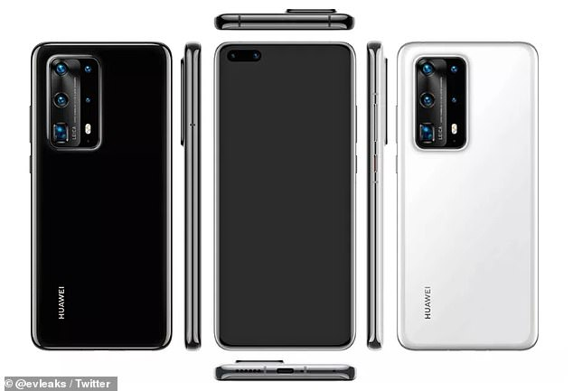 Huawei's P40 flagship phone may come with seven cameras in total according to new itel from frequent smart phone leaker, Evan Blass
