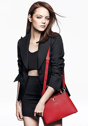 Louis Vuitton, whose bags are modelled by Emma Stone, remains LVMH's most important brand