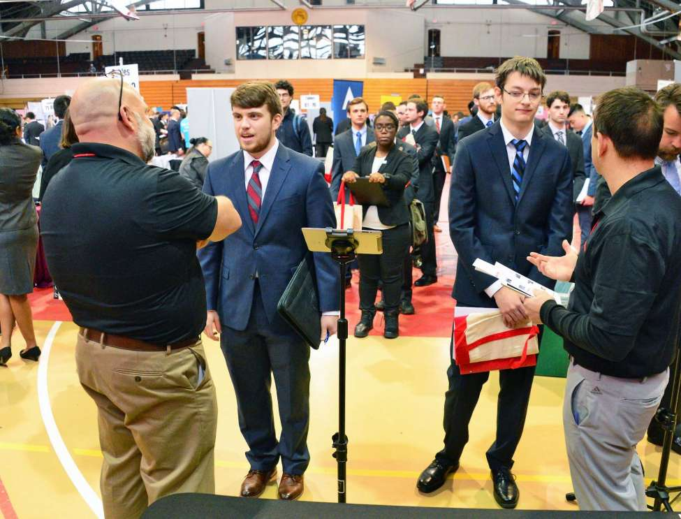 Rensselaer Polytechnic Institute Center for Career and Professional Development hosts its Spring Career Fair Wednesday Feb. 7, 2018 in Troy, NY. (John Carl D'Annibale/Times Union)