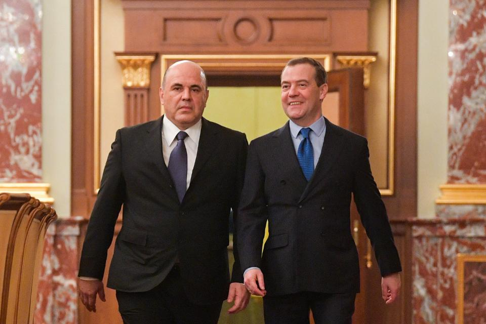 Russian PM Mishustin meets with Government members