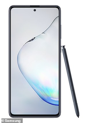 The Note 10 (pictured above) is one of Samsung's flagship devices and comes with the company's S Pen, a stylus that can control the phone in various ways
