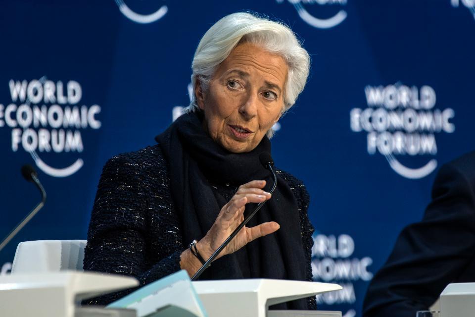 Christine Lagarde, president of the European Central Bank,...