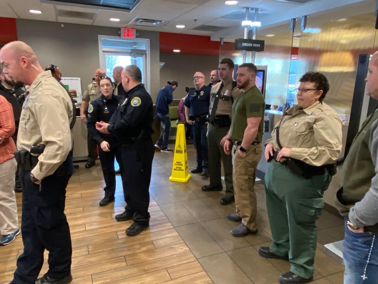 Law enforcement officers at McDonald's