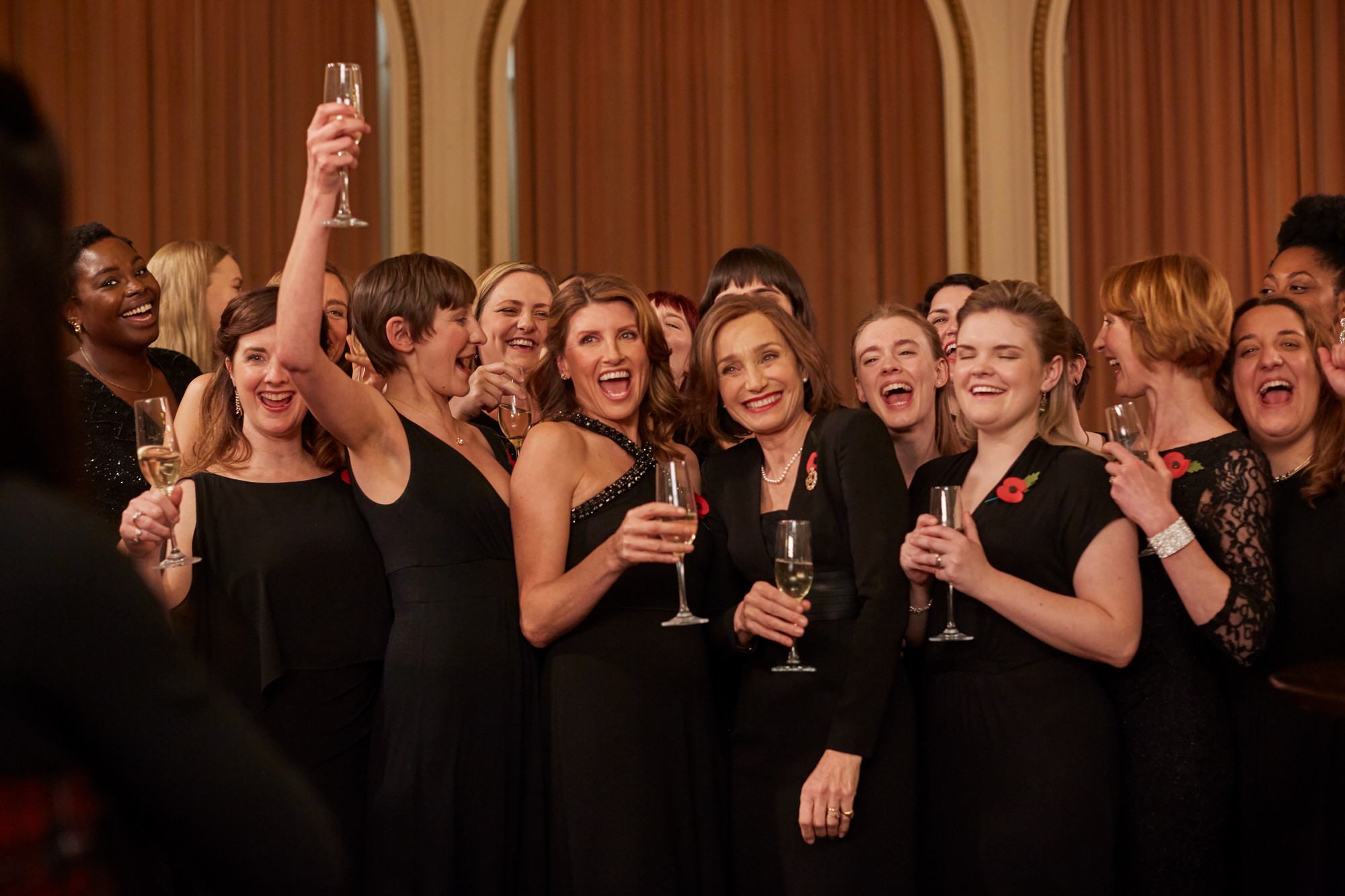 On song...Horgan and Scott Thomas in Military Wives