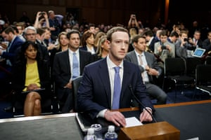 mark zuckerberg testifies before the senate commerce and judiciary committees in april 2018