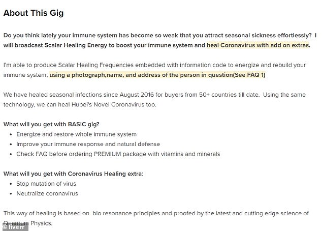 This listing says it can produce healing waves if you send a photograph, name and address for the person you want to heal