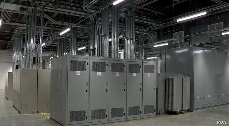 Data centers, such as this Sabey facility in Ashburn, Virginia, use vast amounts of electricity to power the internet.