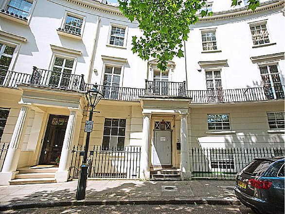 £25m London house: Formerly owned by conman Achilleas Kallakis, it has planning permission for a three-storey basement extension