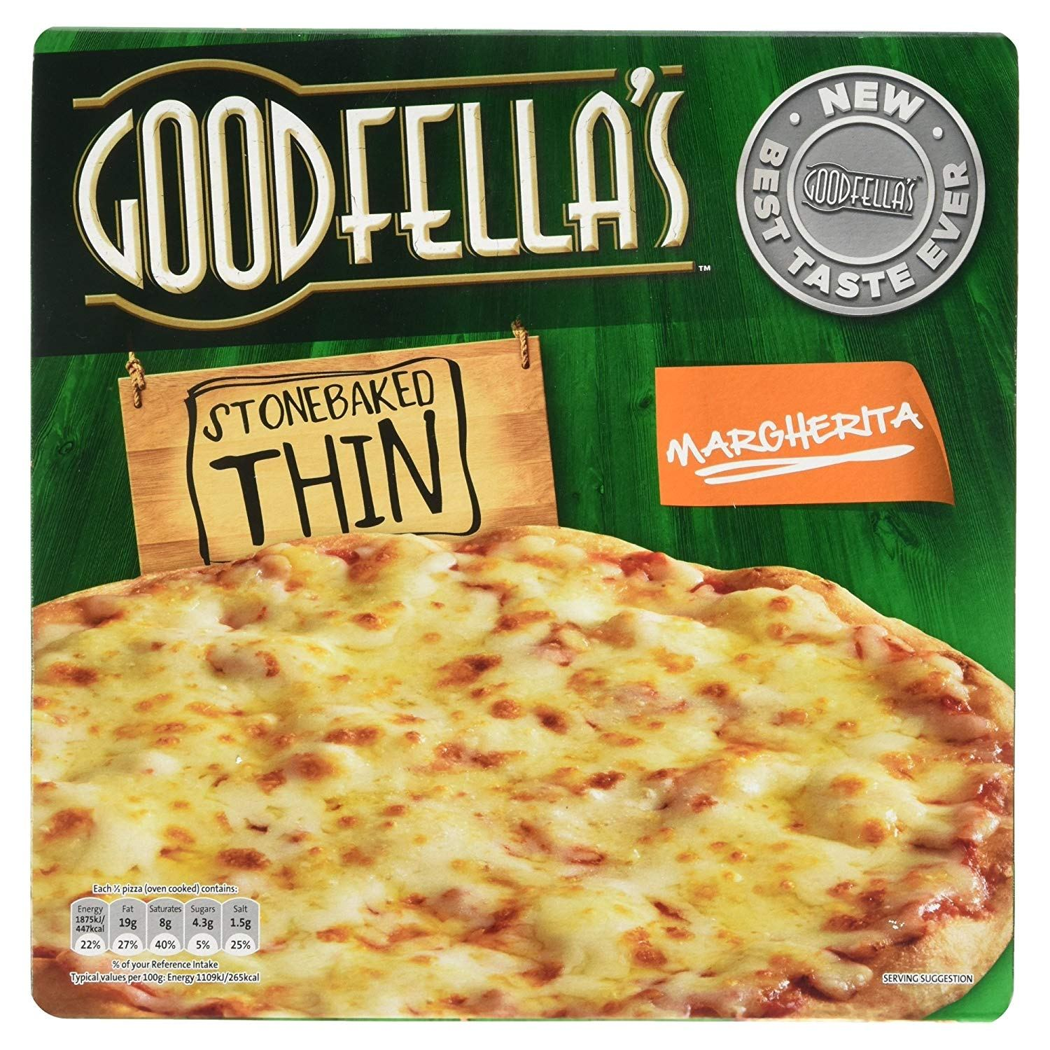 The Goodfellas margherita pizza is £2.25 at Tesco