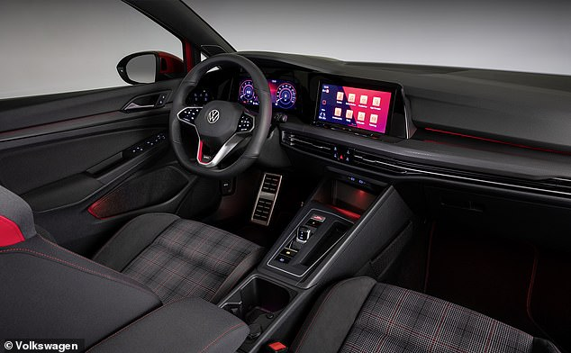 Inside, the car has a new larger touchscreen and plenty of red accents throughout to showcase its hot hatch bloodline