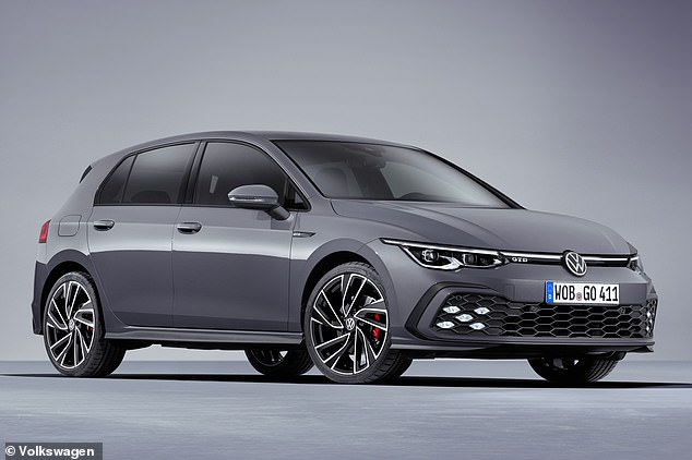 Volkswagen also unveiled the new Golf GTD -a 2.0-litre turbo diesel packing 197bhp