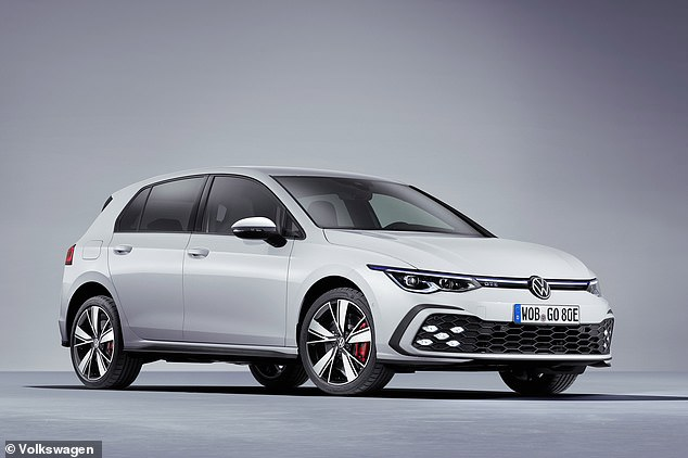 Revealed alongside the Golf GTI and GTD is this plug-in hybrid GTE model - a continuation of a warm hybrid that VW offered in the last generation of the Golf