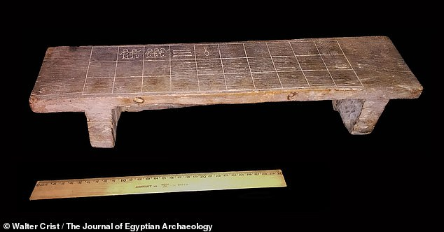 An ancient Egyptian 'board game of death' that played in a fashion similar to modern-day Ludo was used to commune with the deceased around 3,500 years ago. Pictured, the unusualsenet board from the collections ofRosicrucian Egyptian Museum in San Jose, California
