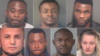 Clockwise from top left: Festus Emosivwe, Charles Onwu, Victor Ngo, Chloe Maylott, Olukayode Adepoju, Molade Fasuyi and Adel Qadir