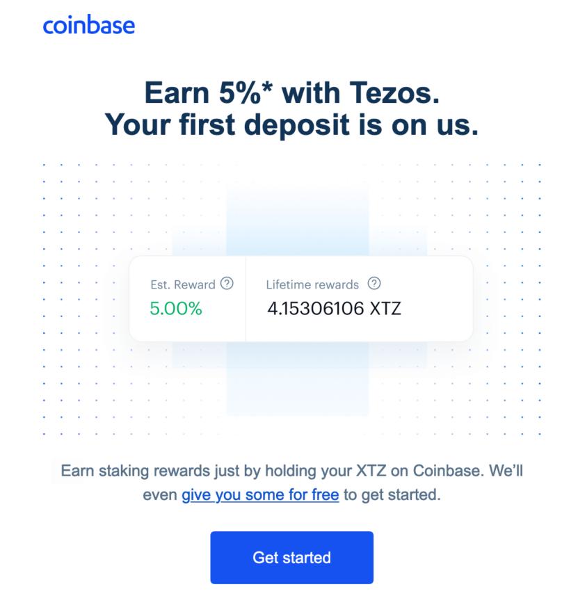 tezos crypto altcoin coinbase pump