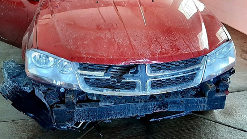 Driver crashes in Chisago County car wash, arrested for DWI