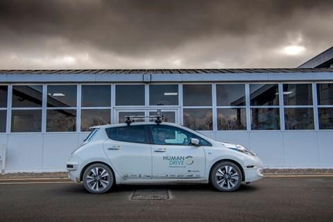 Nissan Leaf Human Drive autonomous car