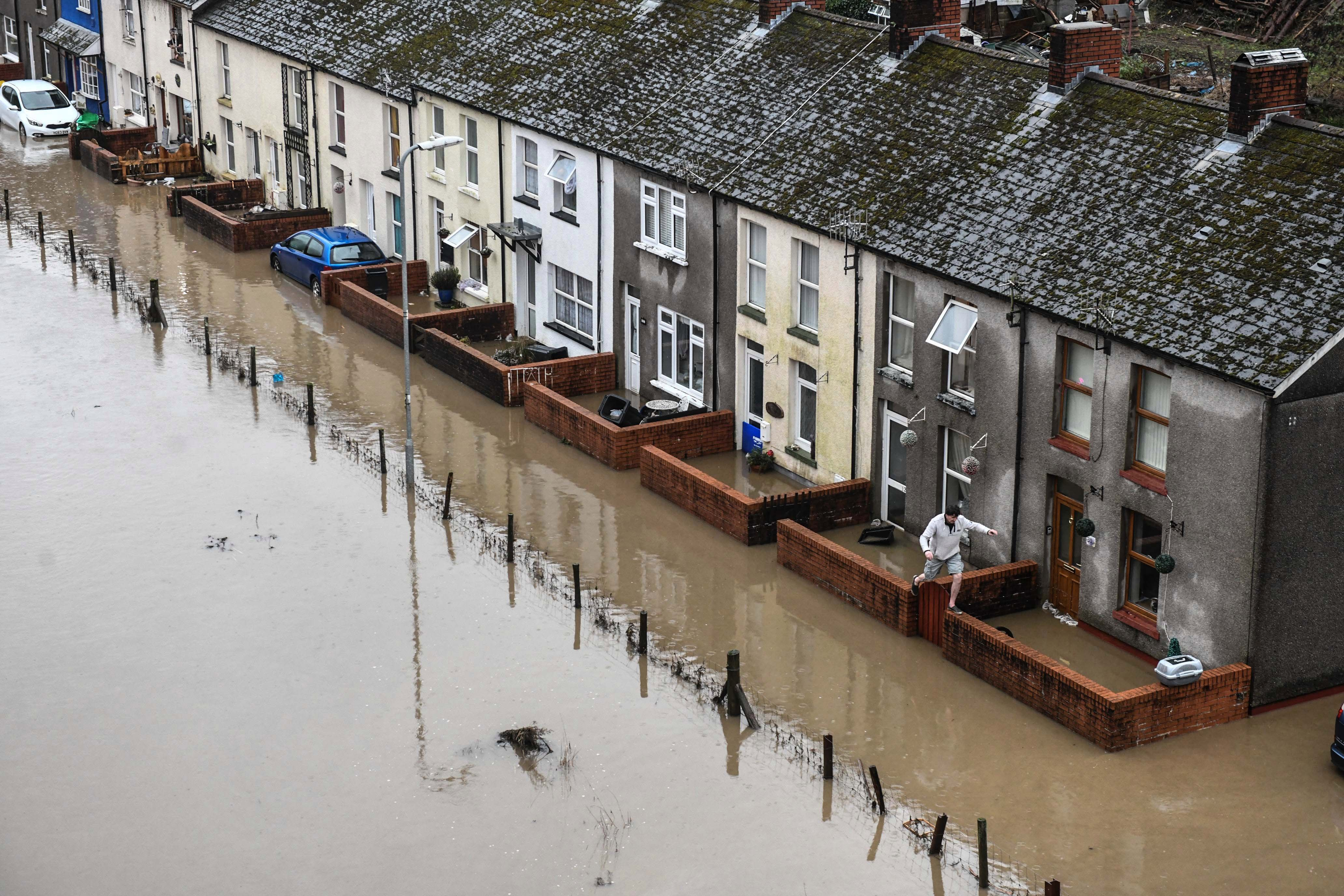 Many homes in South Wales have flooded in Storm Dennis
