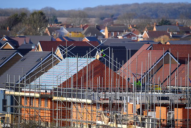 Builders tipped: HSBCanalysts said the Tory party's 80-seat majority has 'brought the prospect of a final settlement of Brexit closer and unleashed pent-up demand in housing'