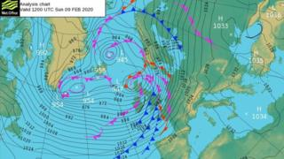 Storm Ciara caused widespread wind and flooding damage