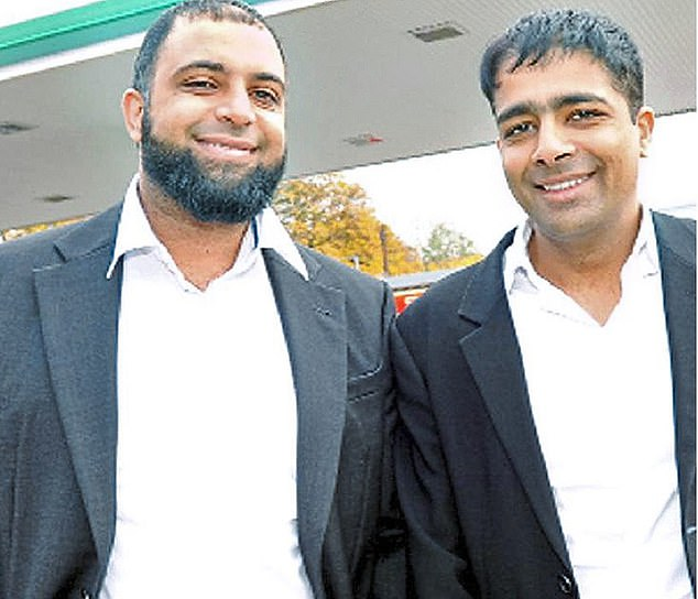 From rags to riches: Tycoon Zuber Issa, left, with his brother Mohsin,from Blackburn are trying to buy Caltex Australia, muscling out a rival bid from Canada's Alimentation Couche-Tard