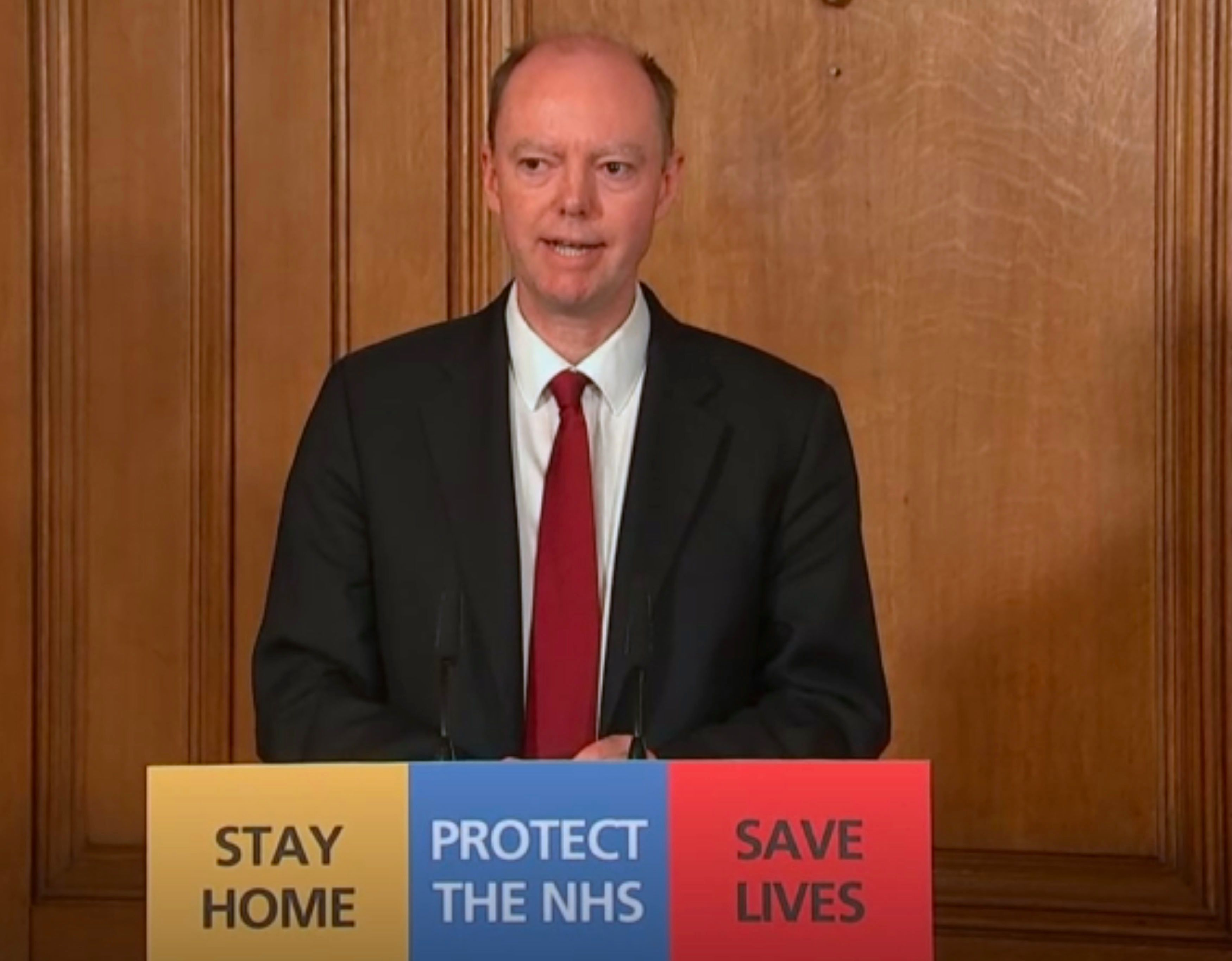 England's top doctor Chris Whitty urged all Brits to do their bit to reduce pressure on the NHS